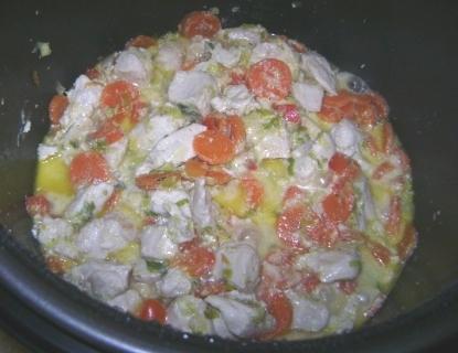 Филе индейки в сливочном соусе