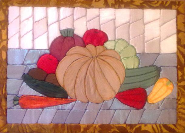 картина из пенопласта и ткани