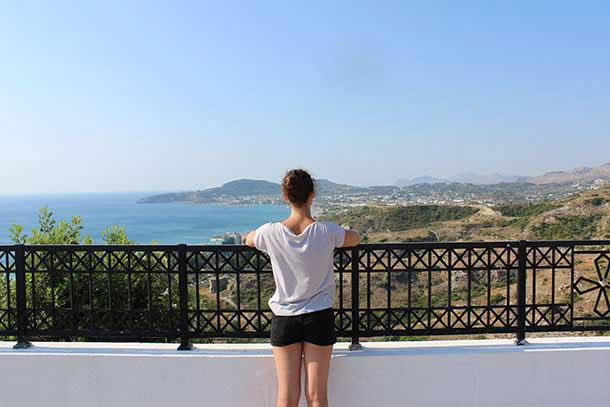вид с балкона на восточное побережье