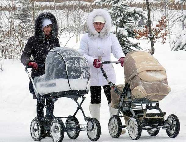мамы гуляют с колясками