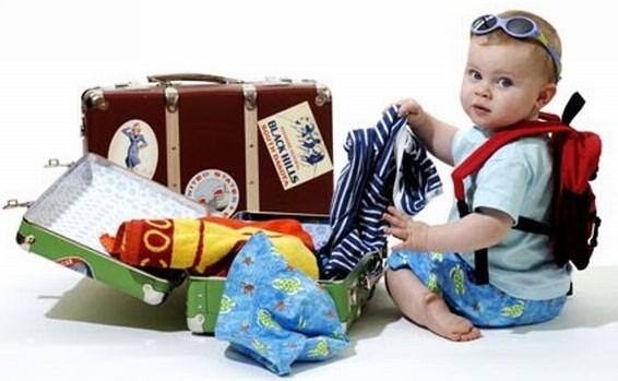 малыш собирается в отпуск