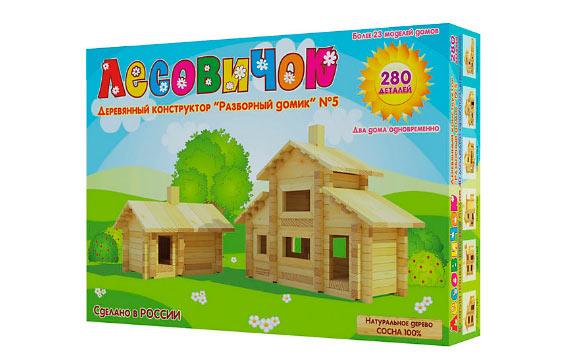 Детские деревянные конструкторы Лесовичок