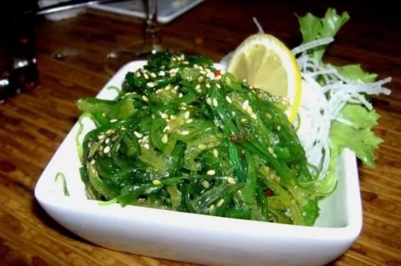 блюда с морской капустой